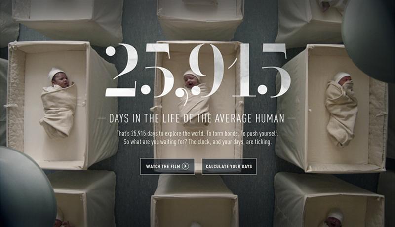 آیا میدانستید که میانگین عمر انسانها ۲۵۹۱۵ روز است؟ پس خوب زندگی کنید.