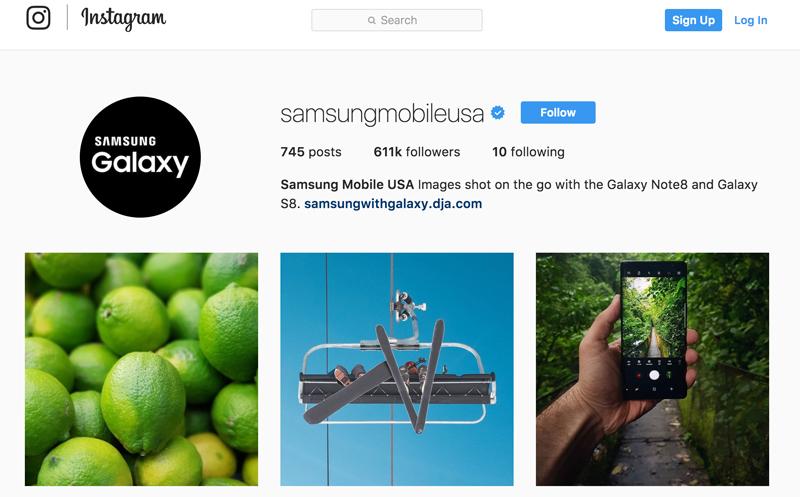 بازاریابی ویدیویی - شعبه امریکا شرکت سامسونگ Samsung Mobile USA