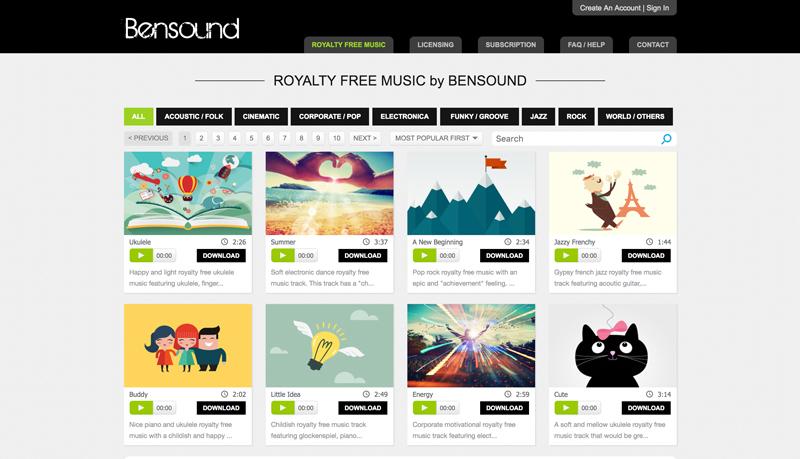 موسیقی متن ویدیو - کتابخانه صوتی Bensound