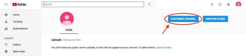 تنظیمات کانال ویدیویی یوتیوب