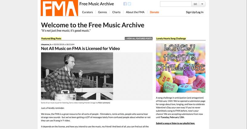 موسیقی متن - کتابخانه صوتی Free Music Archive